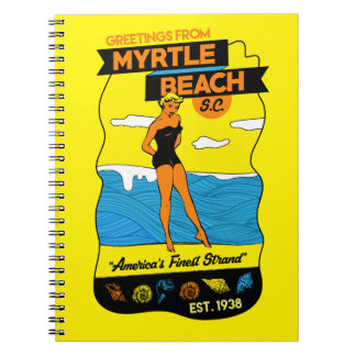 Myrtle Beach Postcard Notebooks