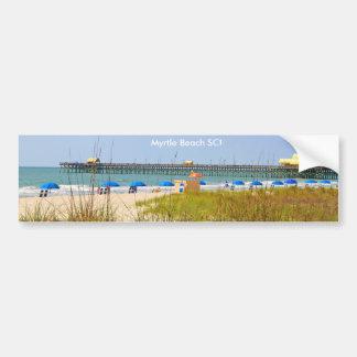 Myrtle Beach SC bumper sticker, Beach Scene Bumper Sticker