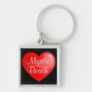 Myrtle Beach SC Heart Premium Key chain