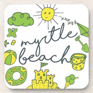Myrtle Beach Script Coaster