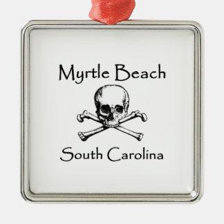 Myrtle Beach South Carolina Jolly Roger Metal Ornament