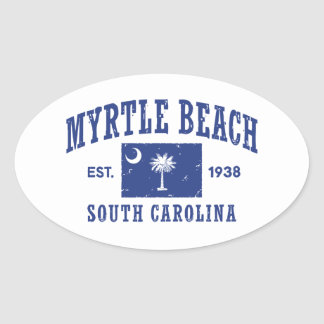 Myrtle Beach South Carolina Oval Sticker