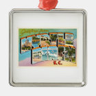 Myrtle Beach South Carolina SC Vintage Postcard- Metal Ornament