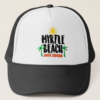 Myrtle Beach Watercolor Trucker Hat