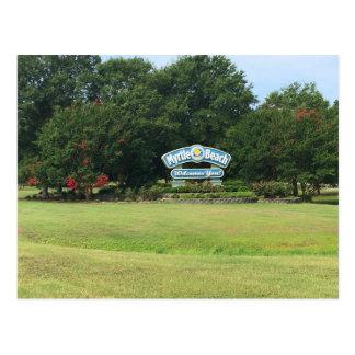 Myrtle Beach, Welcome sign, South Carolina Postcard