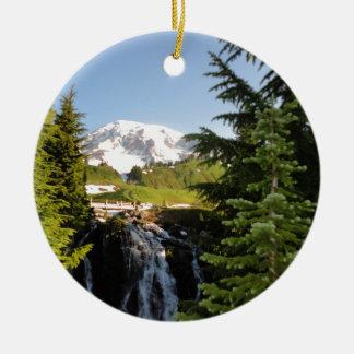 Myrtle Falls, Mount Rainier Ceramic Ornament
