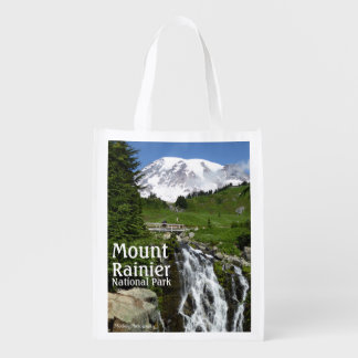 Myrtle Falls (Mount Rainier N.P.) with text Grocery Bag