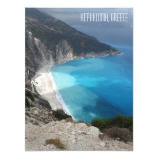 Myrtos Bay Beach Kefalonia Island Greece Photo Print
