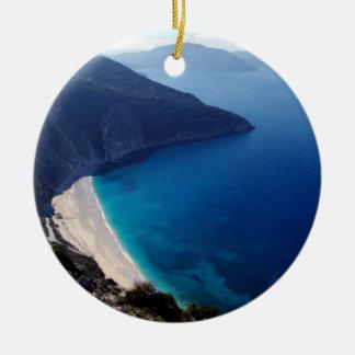 Myrtos – Kefalonia Round Ceramic Ornament
