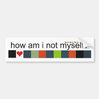 Myself? Bumper Sticker