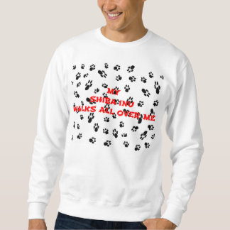 myshiba inu walks on me sweatshirt