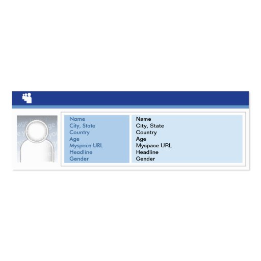 Myspace Dark - Skinny Pack Of Skinny Business Cards