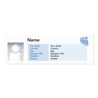 Myspace - Skinny Pack Of Skinny Business Cards