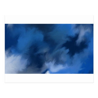 Mysterious abstract blue. postcard