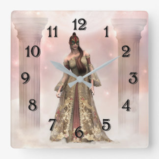 Mysterious Beauty Square Wall Clock