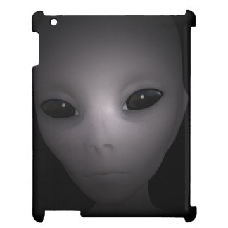 Mysterious black Alien iPad Case