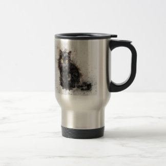 Mysterious Black Cat Travel Mug