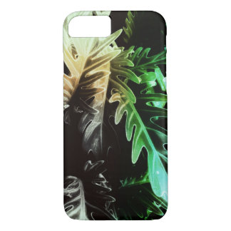 Mysterious bold tropical leaves iPhone 8/7 case