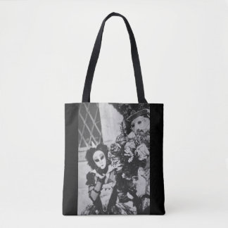 Mysterious carnival masks in Venice, Italy Tote Bag