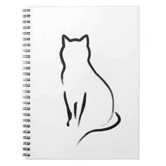 Mysterious cat notebook
