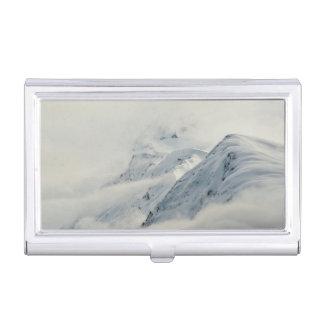Mysterious Chugach Peaks Business Card Holder