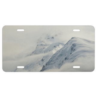 Mysterious Chugach Peaks License Plate