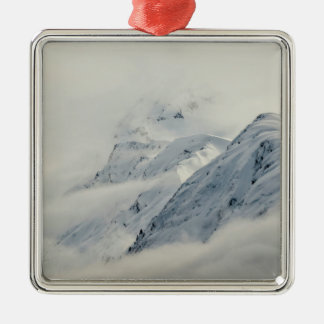 Mysterious Chugach Peaks Metal Ornament
