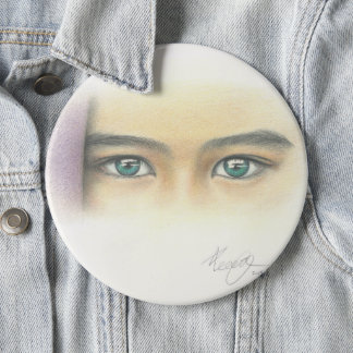 Mysterious Eyes 6 Inch Round Button