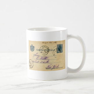 Mysterious handwriting on the back of this - 1897 classic white coffee mug