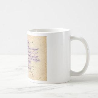 Mysterious handwriting - postal card mailed 1897 classic white coffee mug
