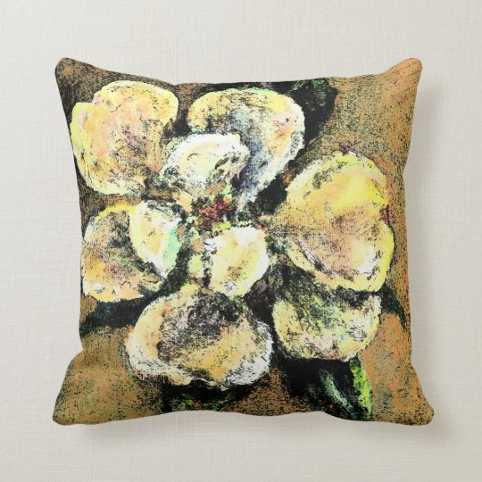 Mysterious magnolia throw pillow