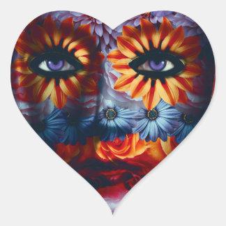 Mysterious mask - Mystery Mask Heart Sticker