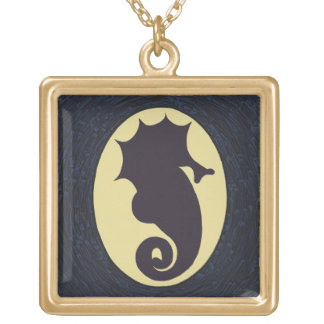 Mysterious Seahorse Gold Plated Necklace