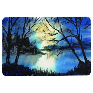 Mysterious Watercolour Sunset Lake Floor Mat