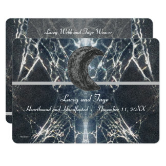 Mysterious Web Goth Gothic Black Gray Handfasting Card