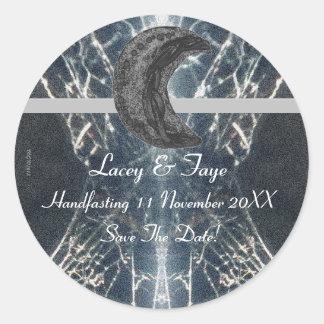 Mysterious Web Goth Gothic Black Gray Handfasting Classic Round Sticker