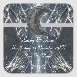 Mysterious Web Goth Gothic Black Gray Handfasting Square Sticker