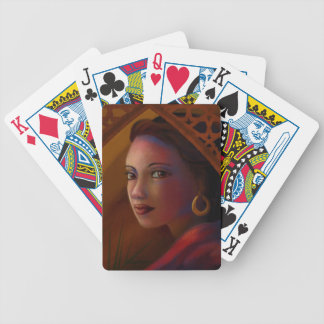 Mysterious Woman Bicycle Playing Cards