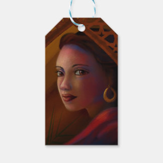 Mysterious Woman Gift Tags