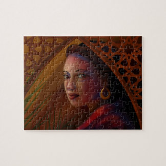 Mysterious Woman Jigsaw Puzzle