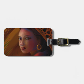 Mysterious Woman Luggage Tag