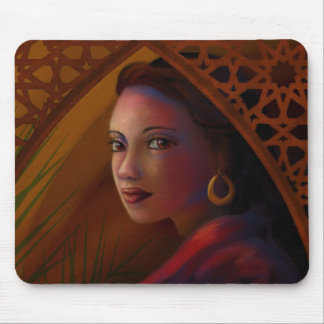 Mysterious Woman Mouse Pad