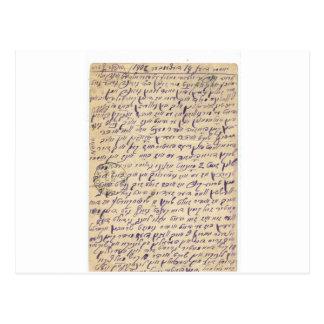 Mysterious writing (Yiddish?) postal card 1902