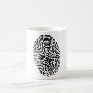 Mystery Black Fingerprint Coffee Mug