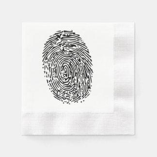 Mystery Black Fingerprint Disposable Napkins