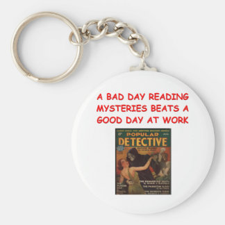 mystery book keychain