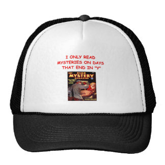 mystery book mesh hat
