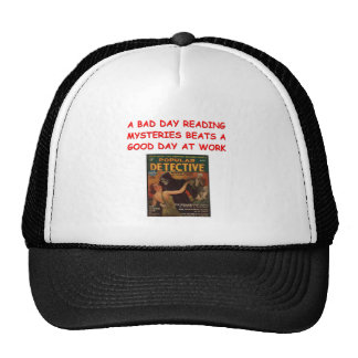 mystery book mesh hats