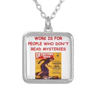 mystery book personalized necklace