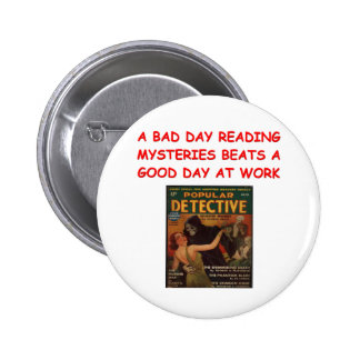 mystery book pinback buttons